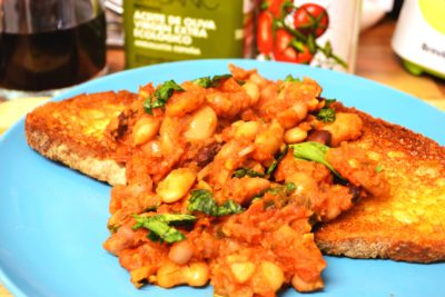 Chilli Tomato & Basil Baked Beans on Toast