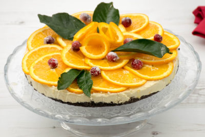 Vegan orange cheesecake