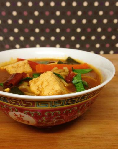 Tofu noodle broth