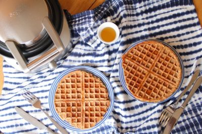 Cinnamon Apple Vegan Waffles
