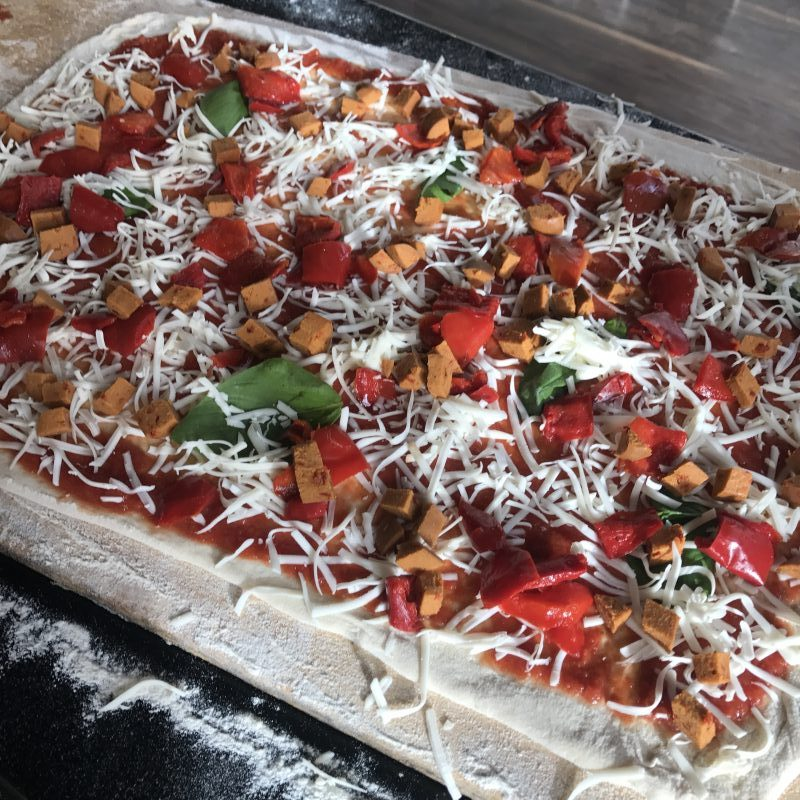 Plant-based pizza from Firezza