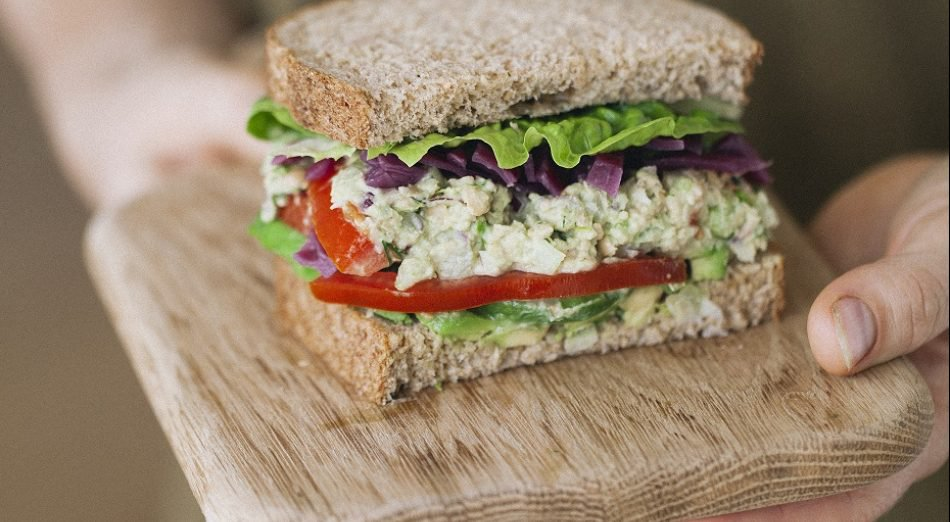 Chickpea tuna sandwiches are a perfect children's lunch option