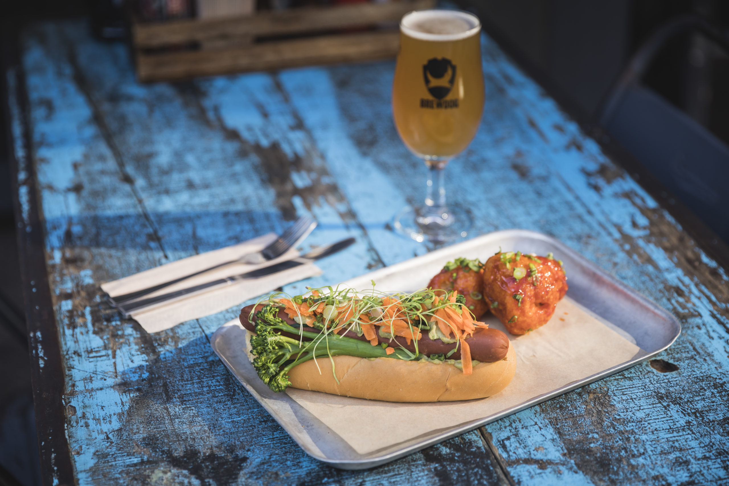 Brewdog vegan hot dog