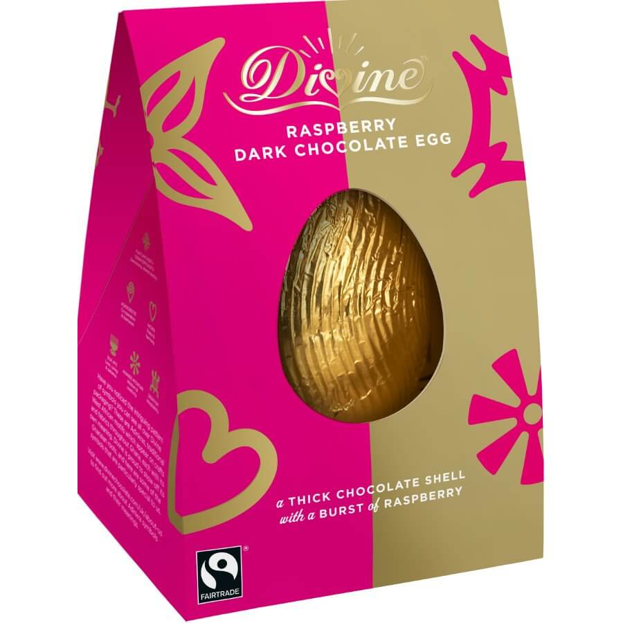 Divine Raspberry Dark Chocolate Egg